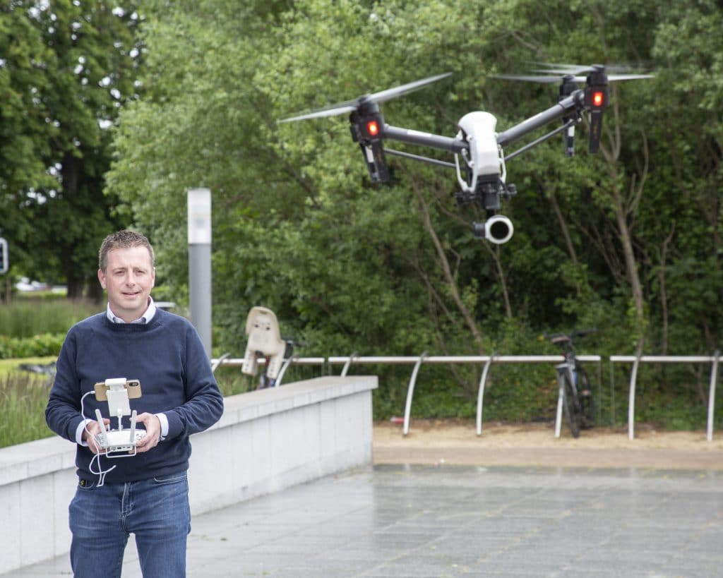 Ian Kiely Flying a Drone- Drone Consultants